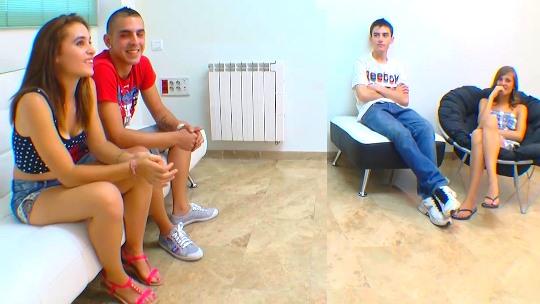 ¡Intercambios de pareja!: Silvia y Dani 19 y 20 añitos (recientes liberales) vs Ainara y Jordi 19 y 18.